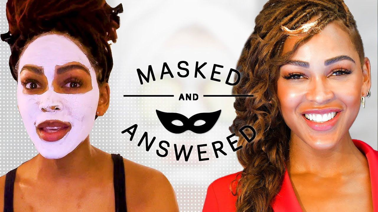 How Meagan Good Repaired the Damage of Thin '90s Eyebrows | Masked and Answered | Marie Claire