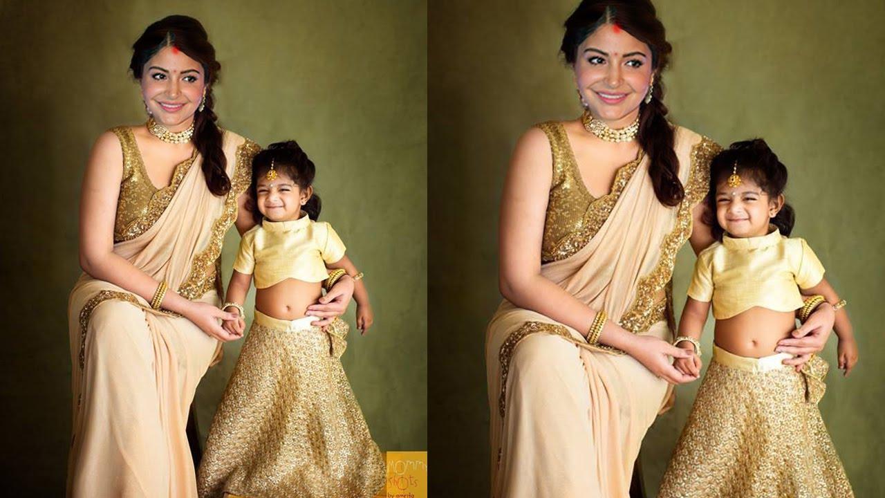 Anushka Sharma shared First Look with her Cute Daughter Vamika Kohli at Dusshera Puja Celebration