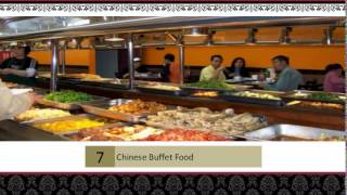 Chinese Buffet Food