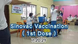 Sinovac Vaccination First Dose