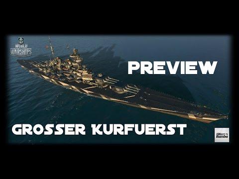 World of Warships Preview | Großer Kurfürst | Deutsche BB Spitze [ Gameplay - Deutsch - German ]