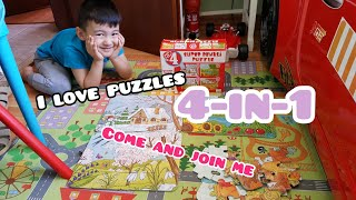 4-in-1  PUZZLES FOR KIDS