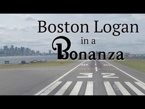 Boston Logan in a Bonanza - Arrival