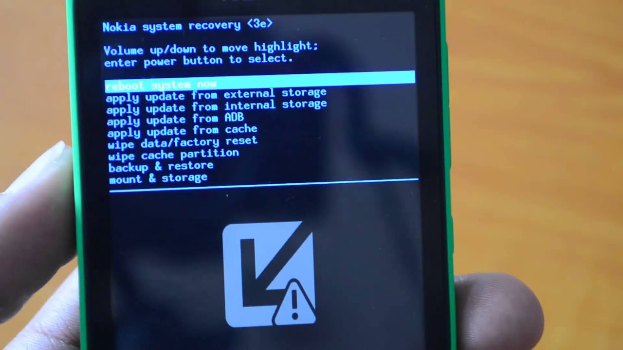 How to Boot Nokia X into Recovery Mode