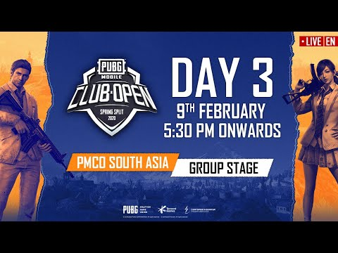 [EN] PMCO South Asia Group Stage Day 3 | Spring Split | PUBG MOBILE CLUB OPEN 2020