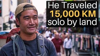 He Traveled 15,000 KM Solo by Land