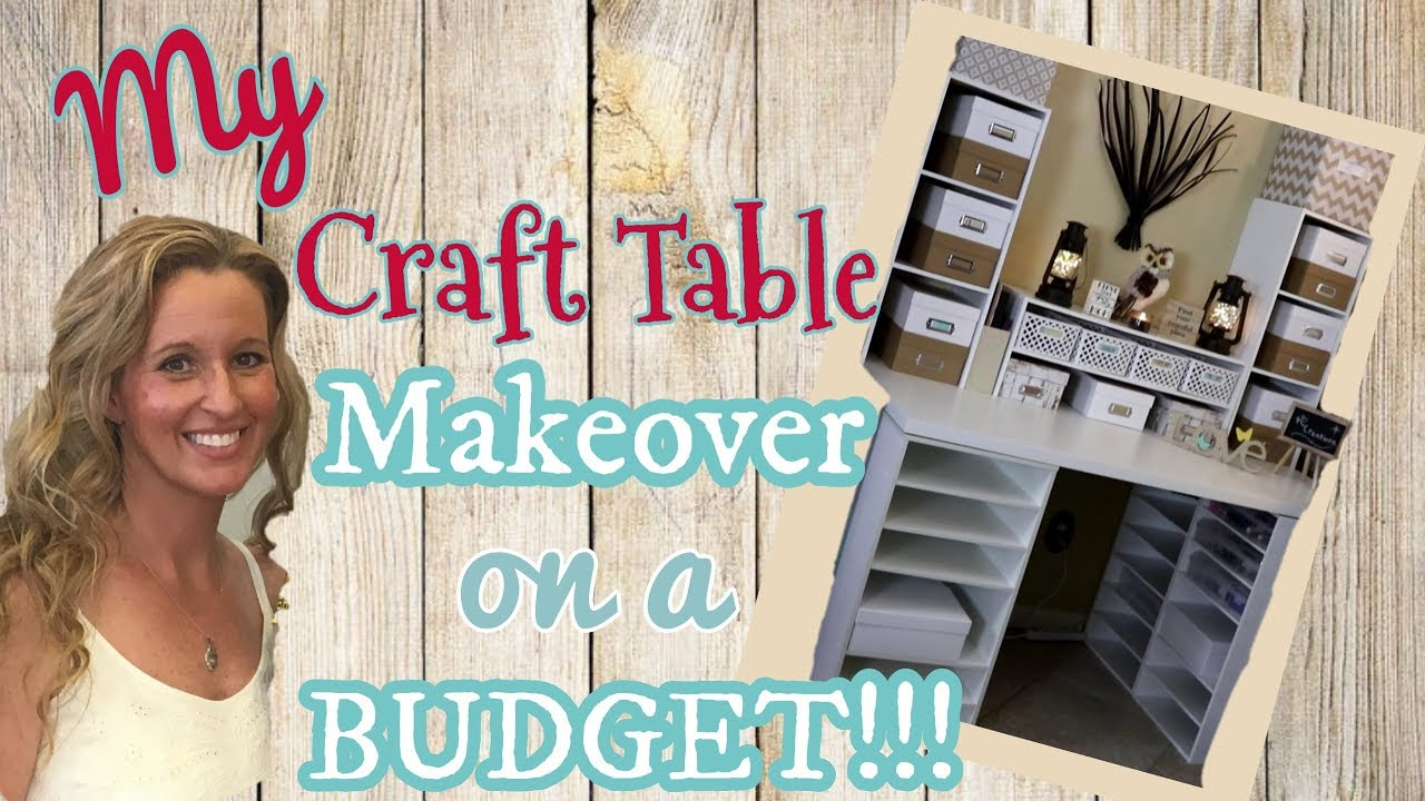 My Craft Table Makeover On A Budget Diy Craft Table Michael S Craft Desk Youtube