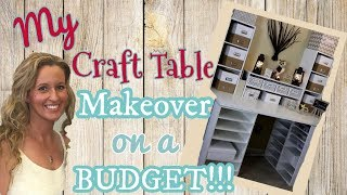 My Craft Table MAKEOVER on a BUDGET | DIY Craft Table | Michael's Craft Desk