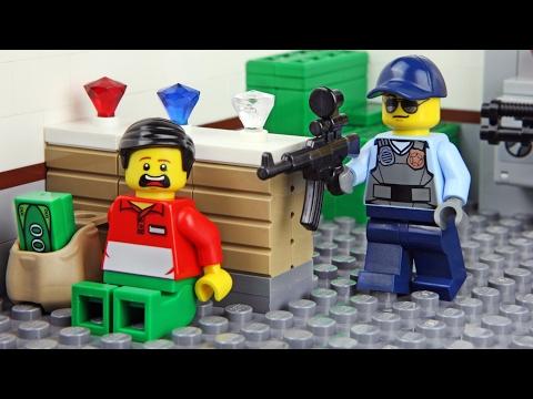 Lego Bank Robbery - Invisible Man
