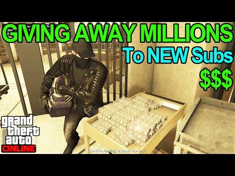 🔴LIVE🔴 GTA 5 Giving Away MILLIONS To NEW Subs (85% Heist Giveaway) + Races U0026 Sumo #gta5