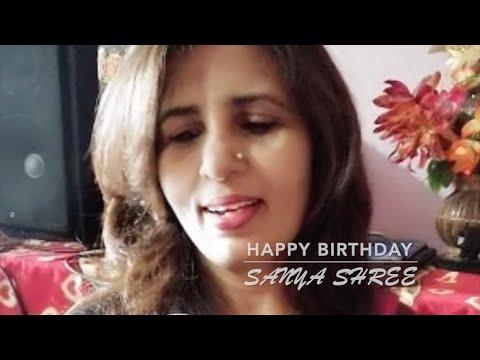 Happy B'Day 💫 ⭐️Sanya Shree Bete💫 ⭐️ ...karaoke For Female Singers