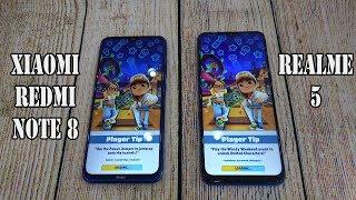 Xiaomi Redmi Note 8 vs Realme 5   SpeedTest and Camera comparison