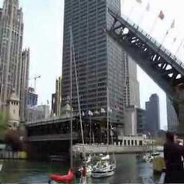 Raising of Michigan Avenue Bridge