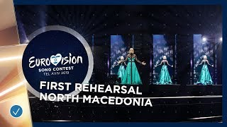 North Macedonia 🇲🇰 - Tamara Todevska - Proud - First Rehearsal - Eurovision 2019