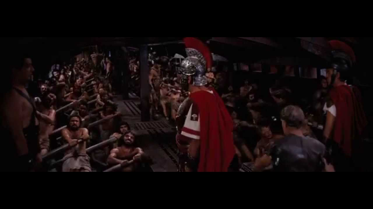 Ben Hur 1959 Rowing Scene On The Galley Youtube
