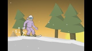 DOWNHILL SNOWBOARD 3 GAME WALKTHROUGH | KIDS GAMES