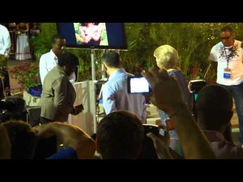Visit of Queen Beatrix of the Netherlands to Curacao