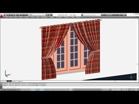 CREATING 3D CURTAINS | AUTOCAD 3D CURTAIN