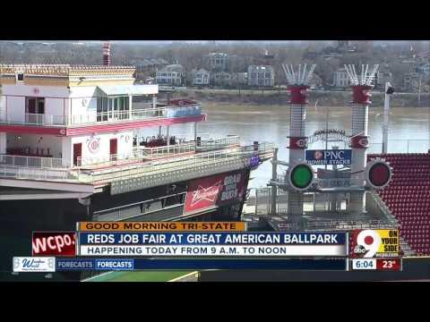 Cincinnati Reds Hold Job Fair At Great American Ball Park