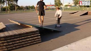 В Дрогичине дети сами сделали себе скейт-парк 12 августа 2019