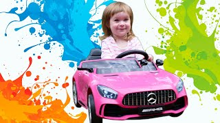 Funny Baby and Disney Princess in a Giant Princess Castle - Family Fun Video