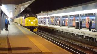 37175 tnt 37116 Departs Reading with Thrash and a naughty driver