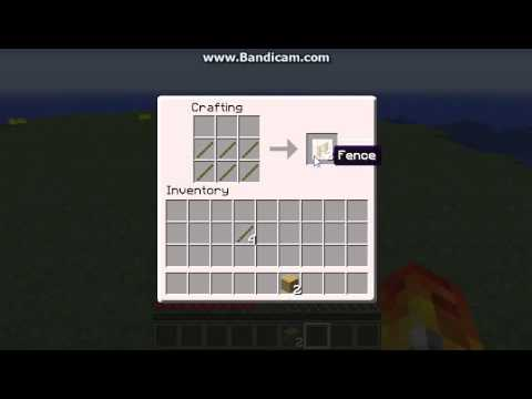 Youtube Minecraft How To Craft A Fence