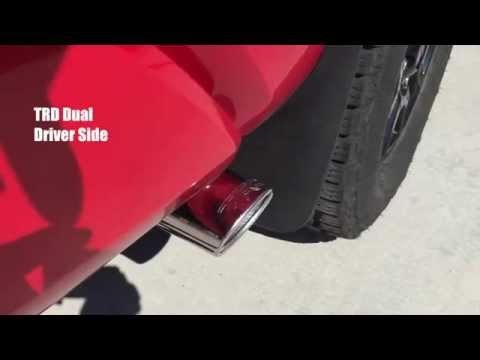 2015 Tundra TRD Dual Exhaust Before & After PLAY IT LOUD