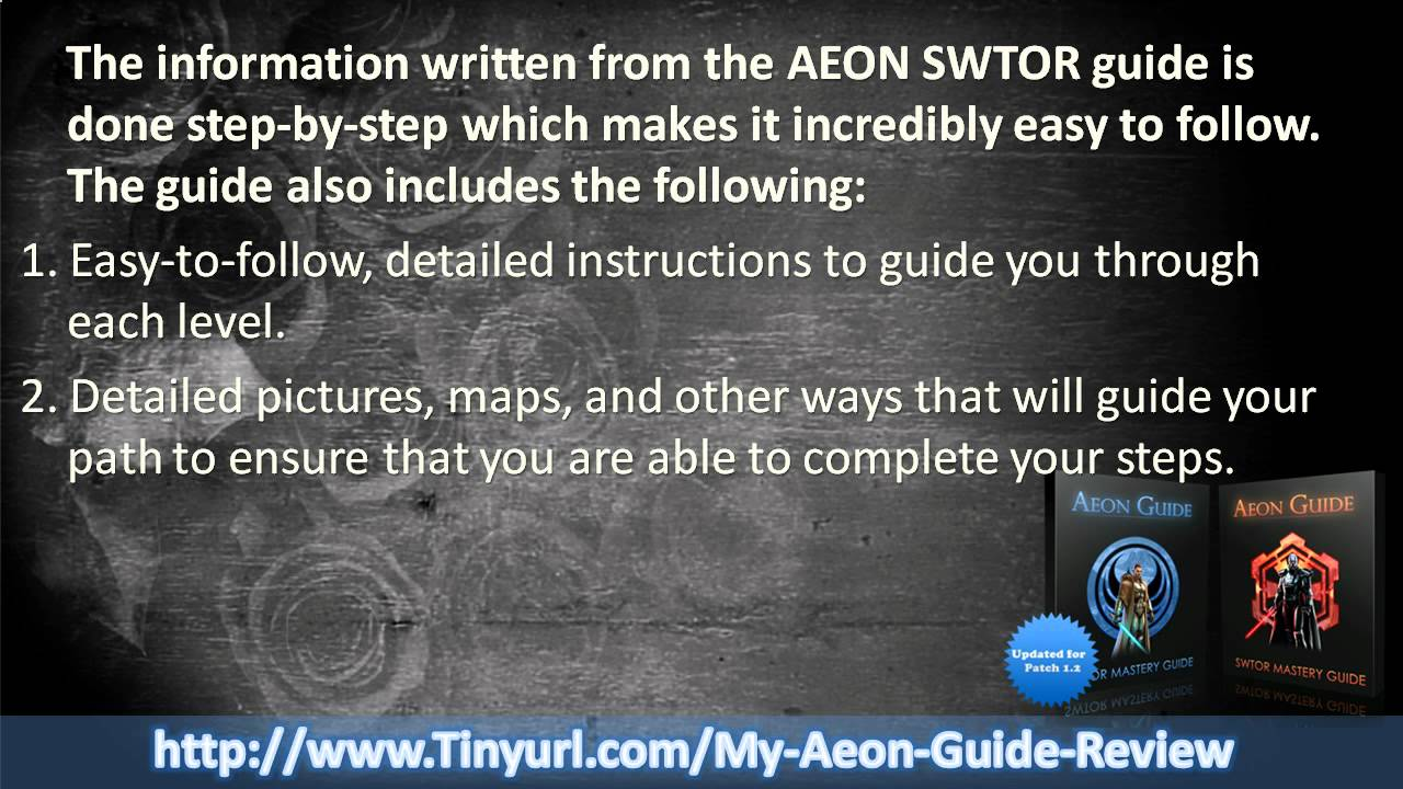New aeon swtor guide (download link) youtube.