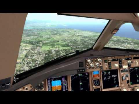 FSX Cockpit Approach: Honolulu Int'l | 777-200LR