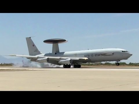 NATO E-3A Final Landing At Aircraft Graveyard