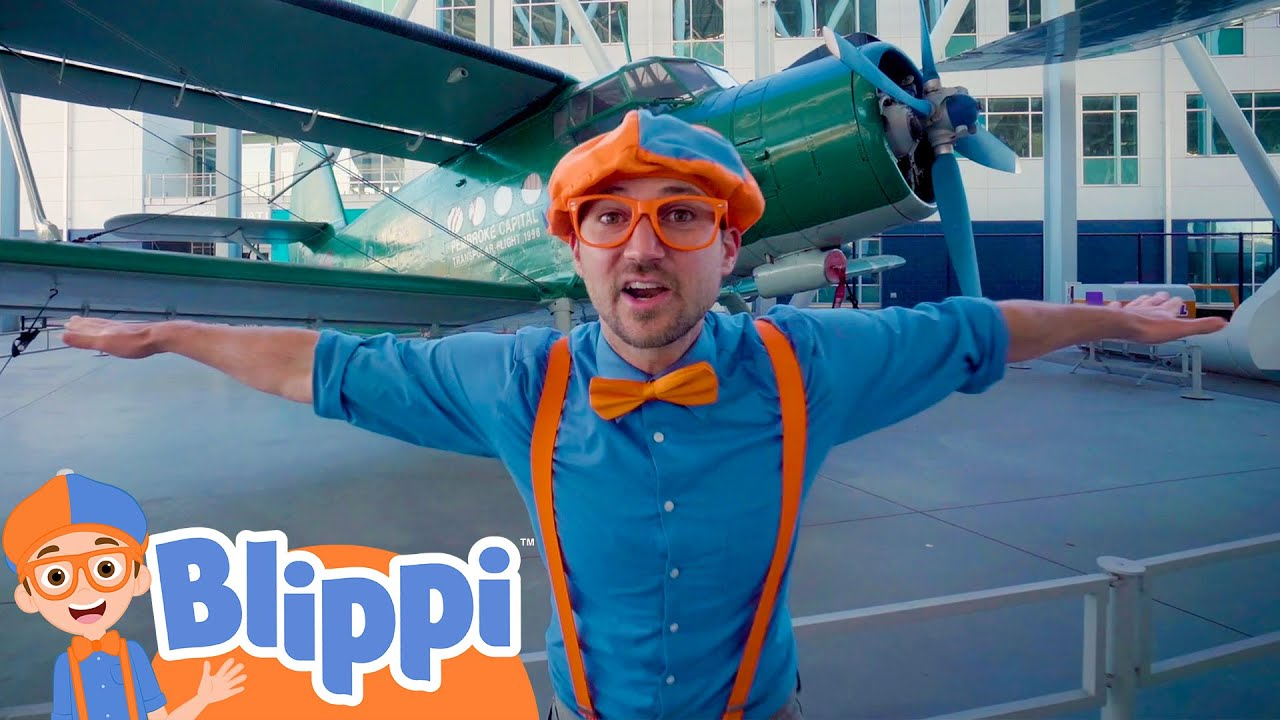 Blippi Learn About Planes At The Museum Of Flight Educational Videos For Kids Youtube