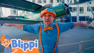 Blippi Learn About Planes At The Museum Of Flight | Educational Videos For Kids