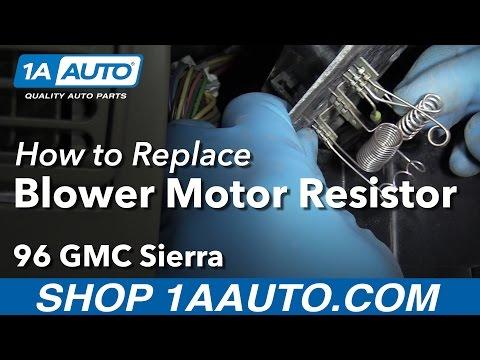 How to Install Replace Blower Motor Resistor 1996 GMC Sierra K1500