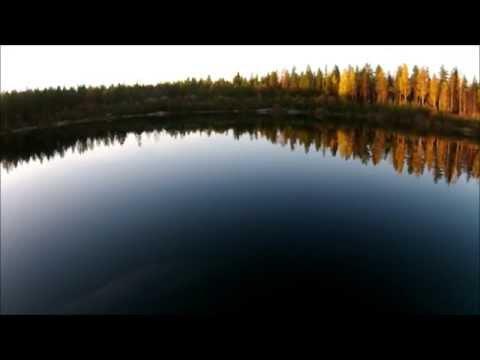 Old mysterious mining in Rantsila forest. Finland, Oulu region.