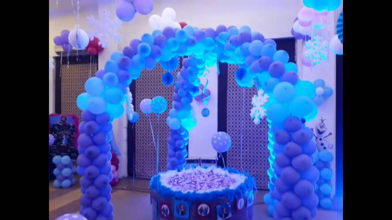 Frozen Theme Birthday Party YouTube