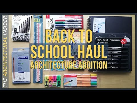 Back To School Supplies Haul  |  Architecture Student Edition