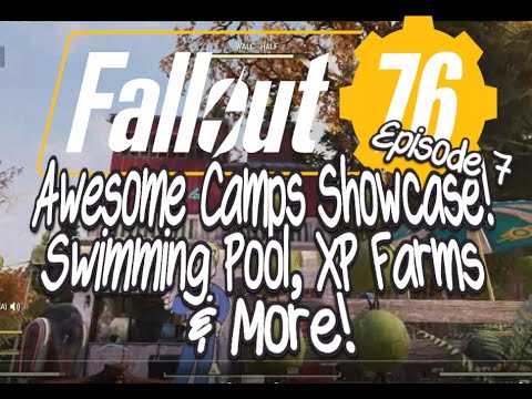 Fallout 76 Awesome Camps Showcase Episode 8 Swimming Pool, XP Farms & More! thumbnail