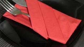 Как сложить салфетки.How to fold napkins.(Как красиво складывать салфетки.How beautifully folded napkins. Как сложить салфетку конвертом.How to fold a napkin envelope. http://youtu.be/..., 2014-08-19T17:42:24.000Z)