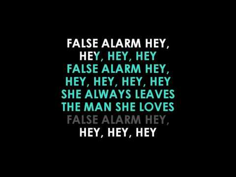 The Weeknd  False Alarm karaoke | GOLDEN KARAOKE