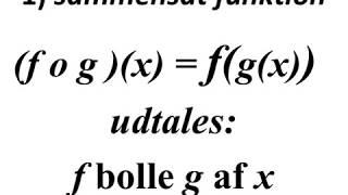 sammensat funktion og stykkevis lineær funktion