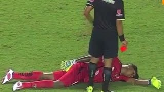 20  crazy red cards for goalkeeper