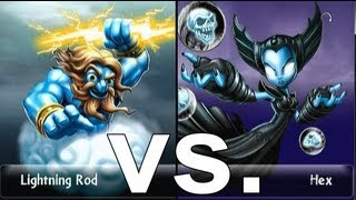 Wunschkampf | Hex vs Lightning Rod Skylanders Giants Duellmodus (German/Deutsch)