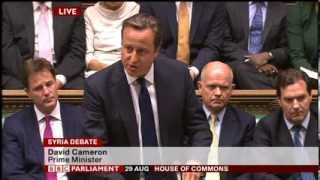 Syria Intervention Vote- UK Parliament,29 Aug 2013- Cameron,Miliband,Straw,Rifkind