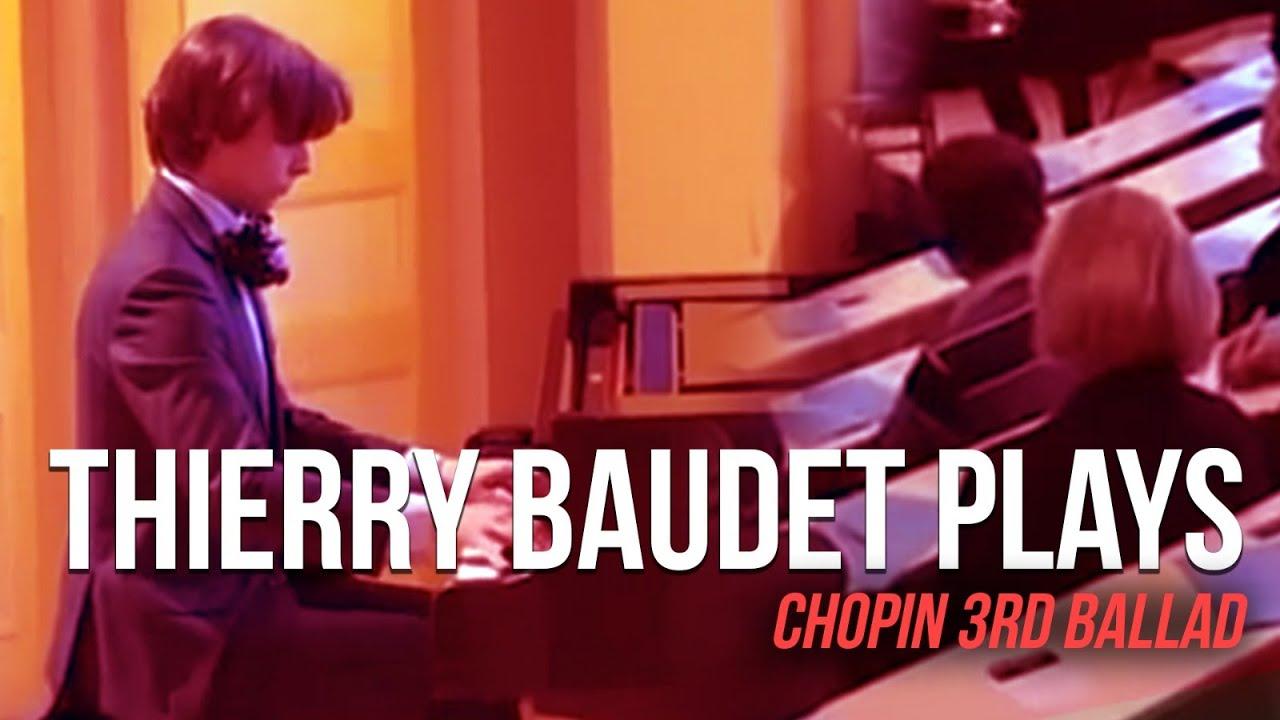 Thierry Baudet Plays Chopin's 3rd Ballad