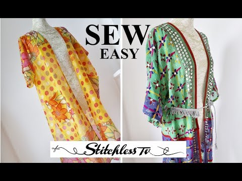 Diy How To Sew An Easy Kimono Robe Youtube