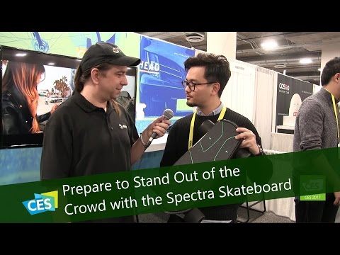 Prepare to Stand Out of the Crowd with the Spectra Skateboard at CES 2017