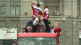ХОККЕЙ. СБОРНАЯ РОССИИ. Москва чествует ЧЕМПИОНОВ МИРА!