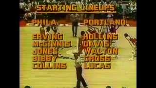1977 NBA Finals Portland Trail Blazers v Philadelphia 76ers Game 5 1 of 2 (Qtrs 1-3)