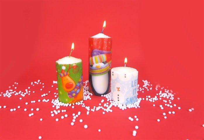 Immagini Di Candele Natalizie.Come Personalizzare Le Candele Con I Tovaglioli Di Natale
